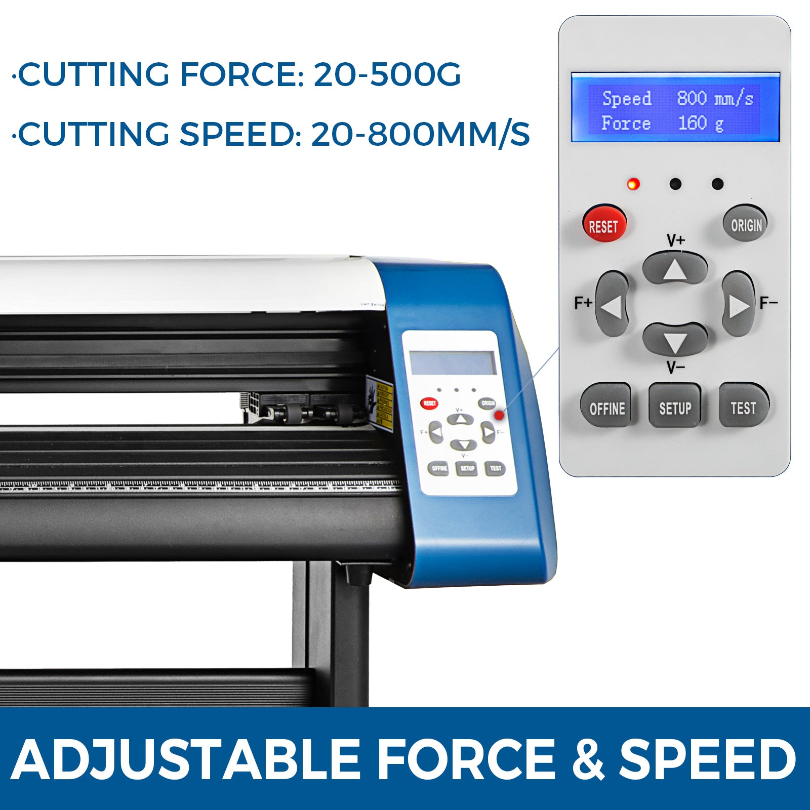 "34"" Vinyl Cutter Plotter Cutting Laser Plotter Optical Sensor Stickers Usb Port"