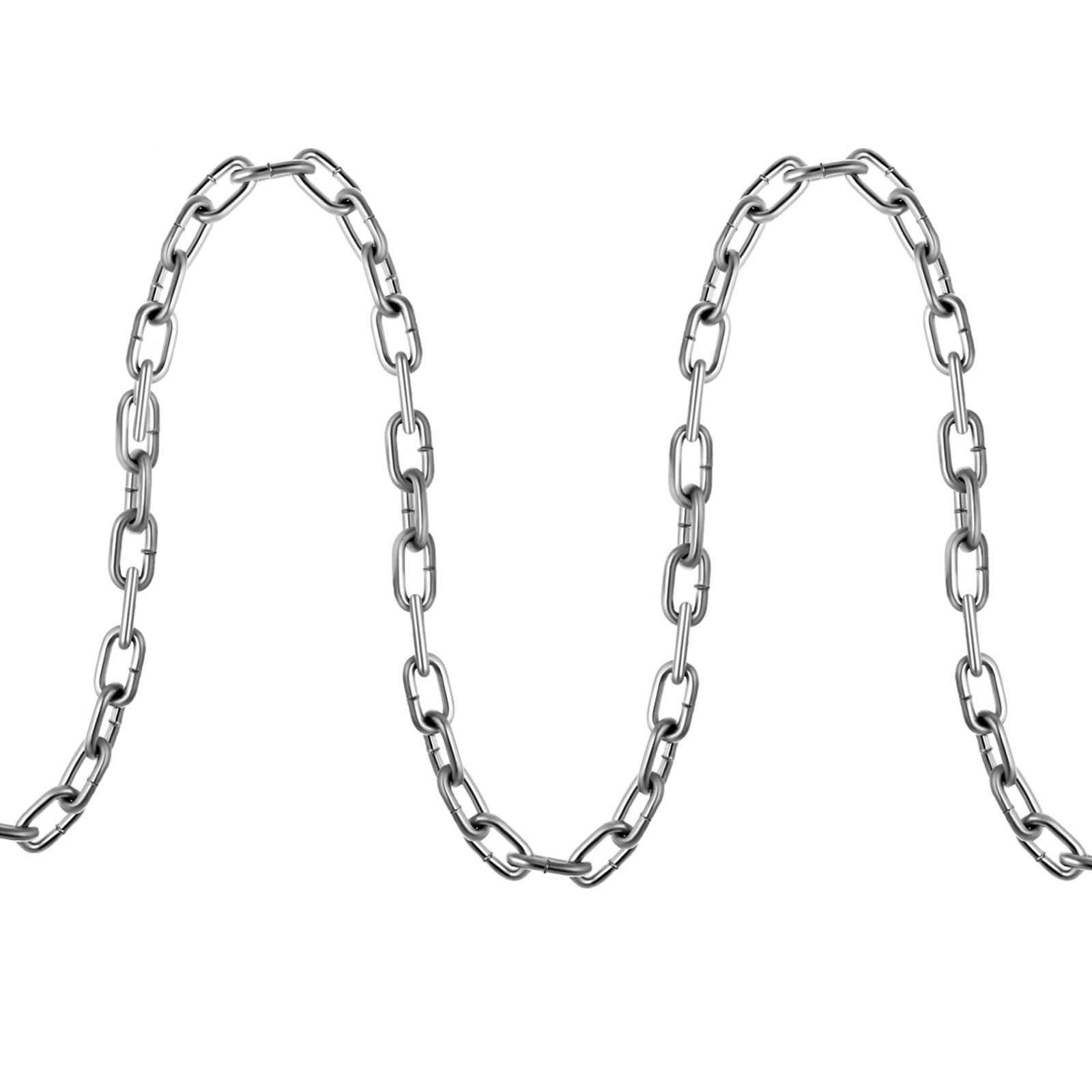 Coil Chain Zinc Plated 1/4'' 20' 6100kg/13500lb Binding Hanging G30 Chain