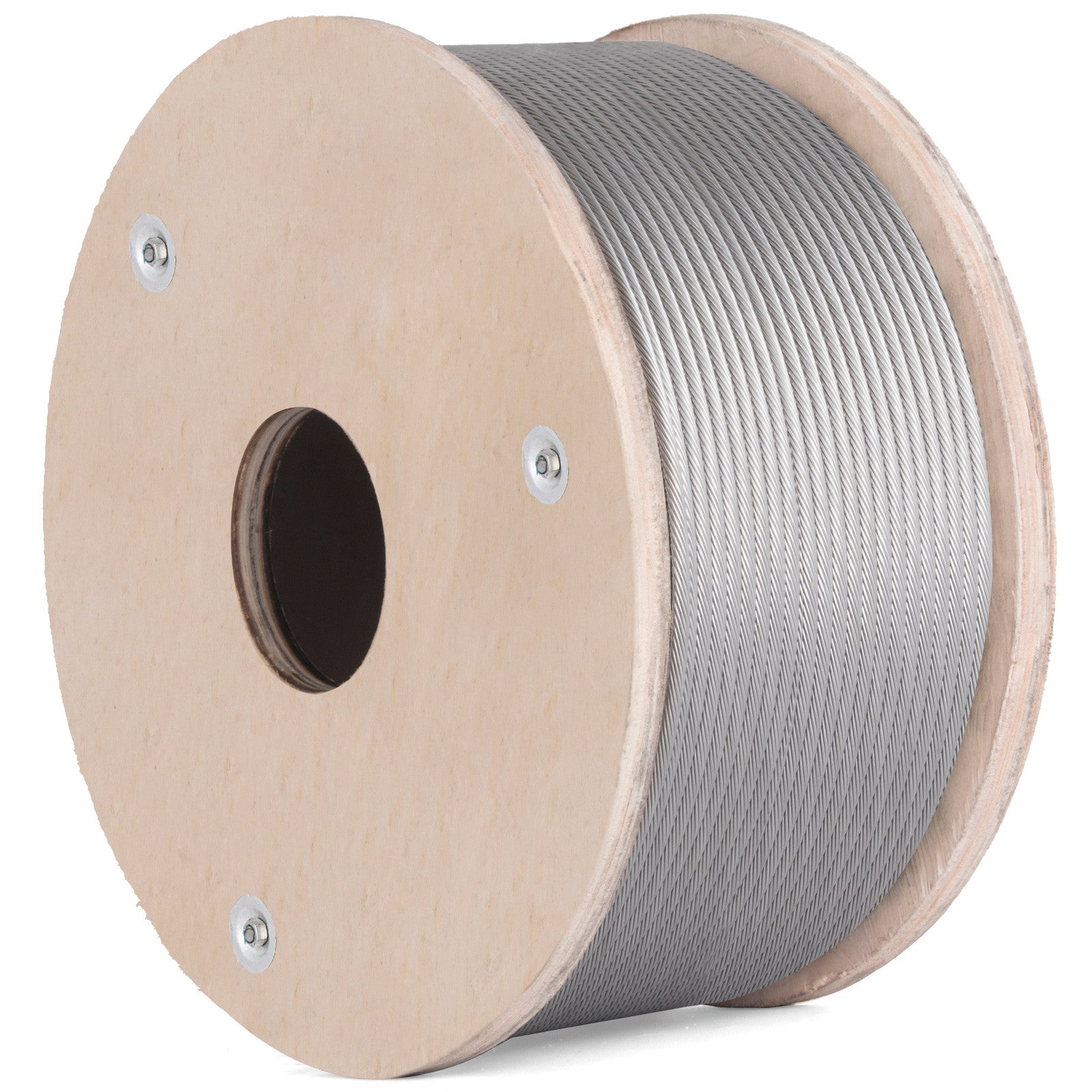 "T316 Stainless Steel Cable Wire Rope,3/16"",1x19,200ft Chemical Hoist Cable Railing"