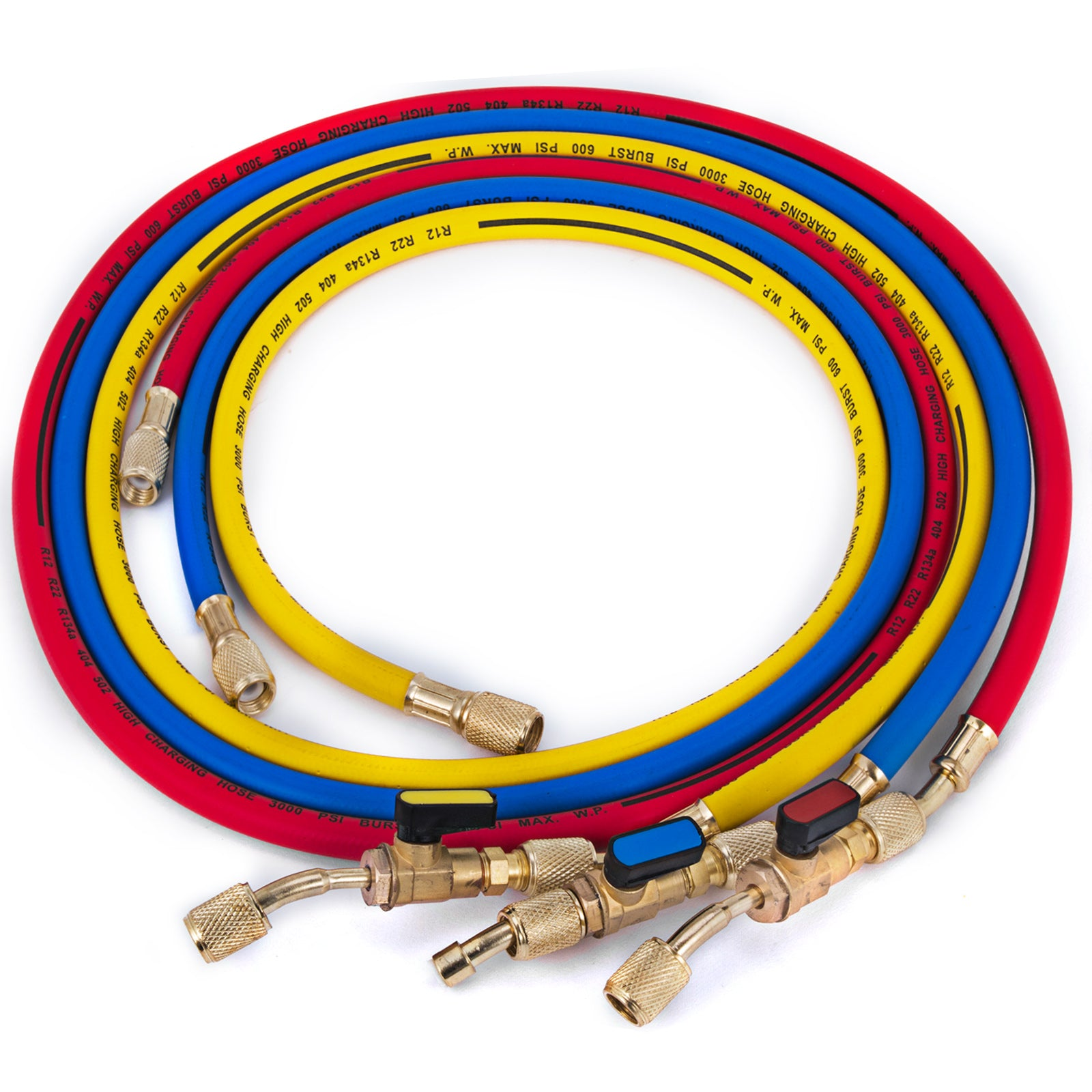 Manifold Hose Set 36in Red Yellow Blue 29983 Compact Ball Valve