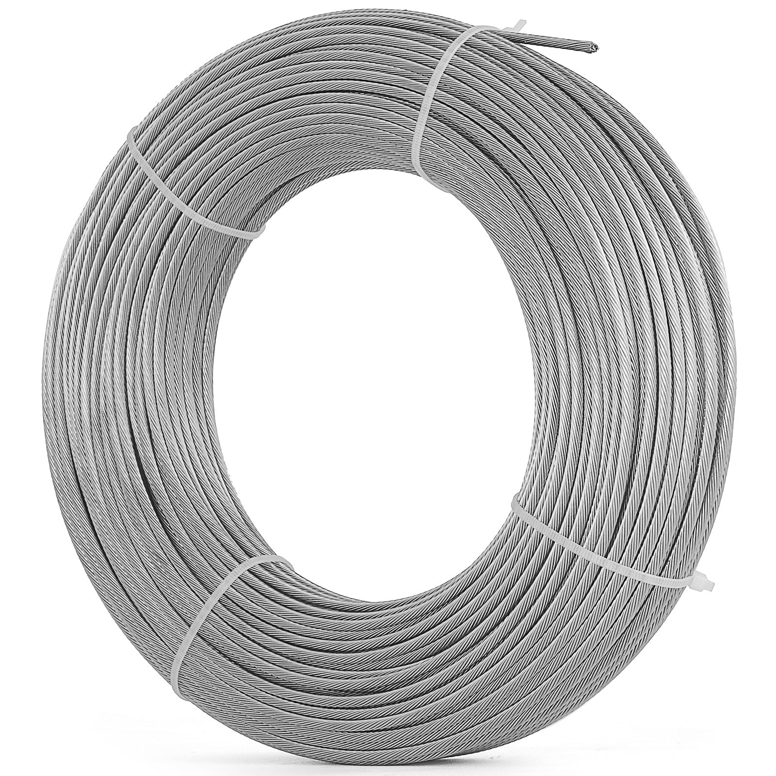 "T316 Stainless Steel Cable 165ft 7x7 1/8"" Wire Rope Strand Medicine Rigging"