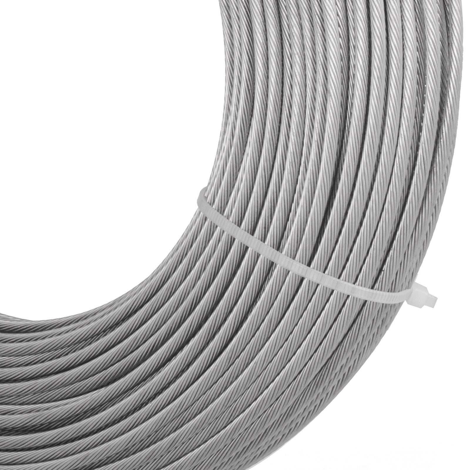 "Cable Railing T316 Stainless Steel Wire Rope Cable Strand, 1/8"", 1x19, 200 Ft"