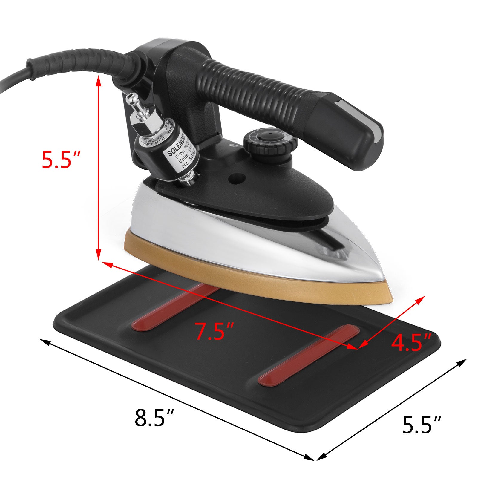 Gravity Feed Electric Steam Iron Sleek Design Fast Running Fast Thermal Conduct