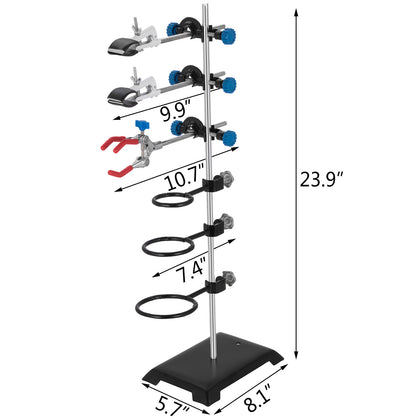Laboratory Stands Support And Lab Clamp Flask Clamp Condenser Clamp Stands 24