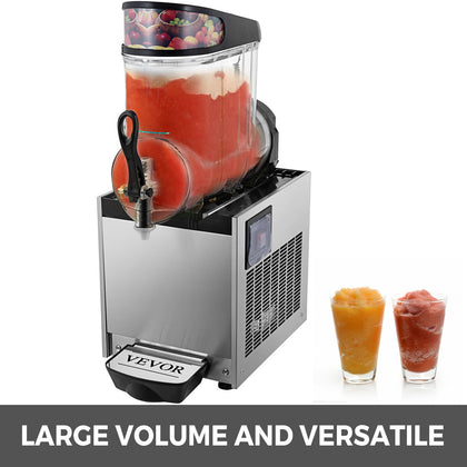 Slush Frozen Drink Machine Slush Maker Frozen Drink 12l Tank Beverage Mixer