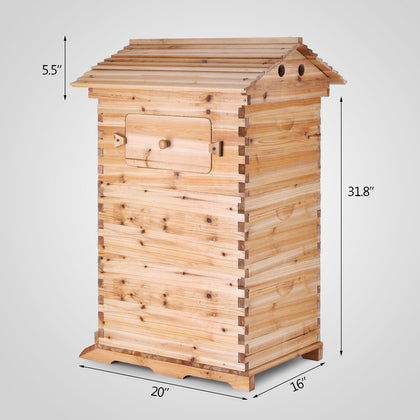 Bee Hive 3 Layers For 7 Auto Run Honey Frame Wooden Beehive Upgraded Beekeeper