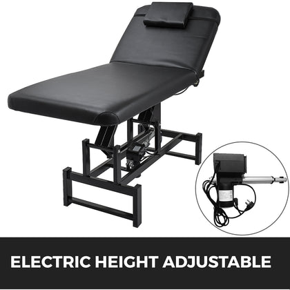 Massage Table Spa Salon Beauty Bed Height Adjustable Black Facial Bed