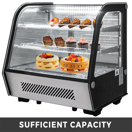 Refrigerated Bakery Display Case Countertop 120l Show Case Cabinet Dessert Case