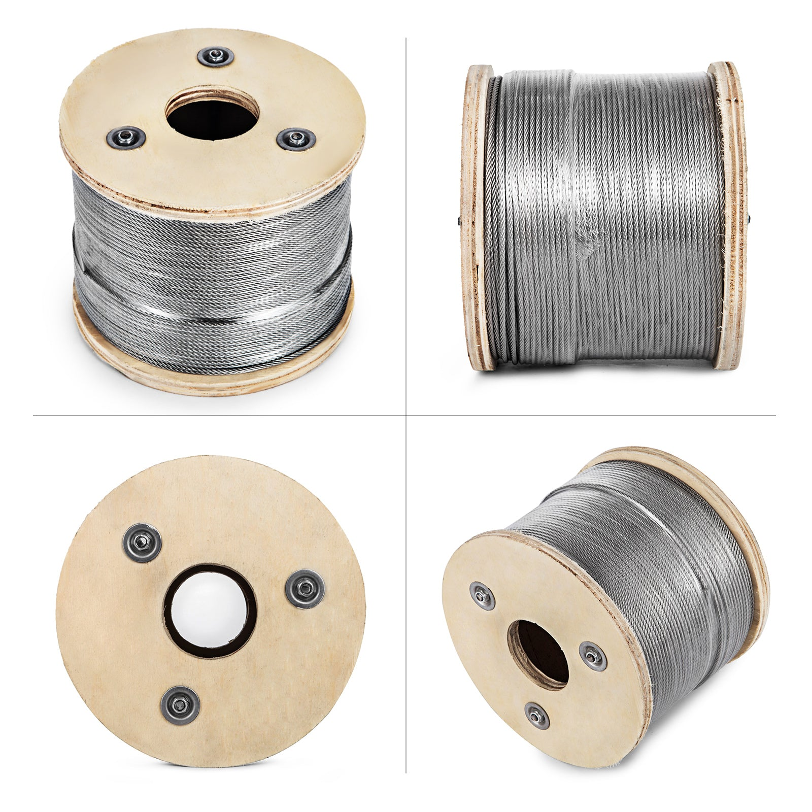 "1/8"" 7x7 Stainless Steel Cable Wire Rope Grade 304 (1000 Feet)"