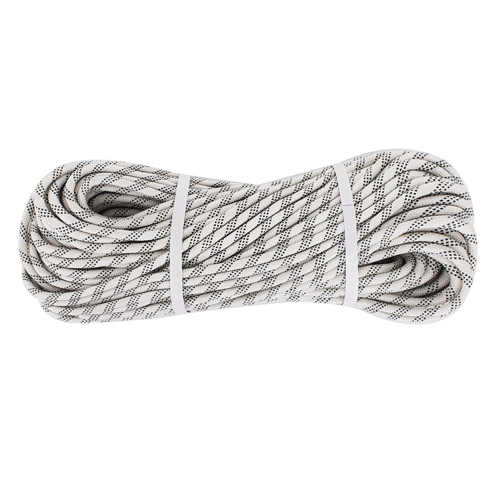 25m*10.5mm Dynamic Climbing Rope White With Black Rescue Rock Climbing Good