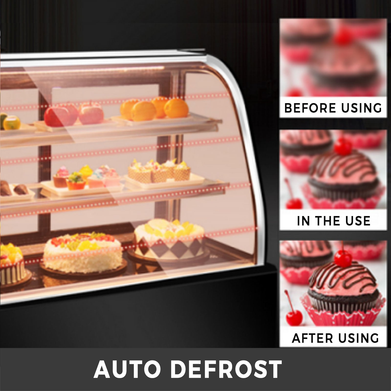 Refrigerated Bakery Display Case Countertop 130l Show Case Cabinet Dessert Case