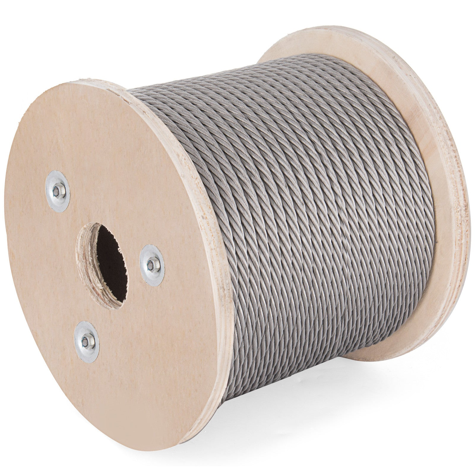 "T-304 Grade 7 X 19 Stainless Steel Cable Wire Rope 3/8"" - 200 Ft"