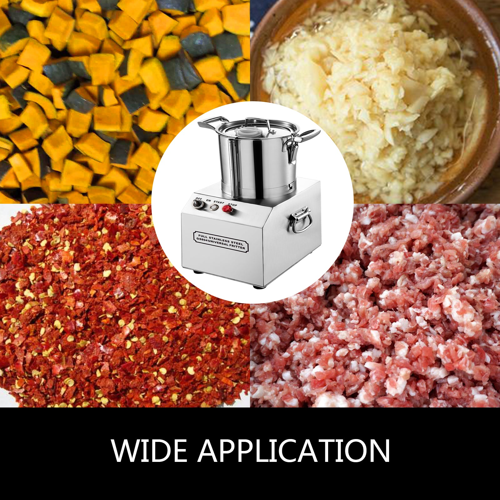6l Commercial Food Processor Food Grinder Food Chopper S.steel Vegetable Dicer