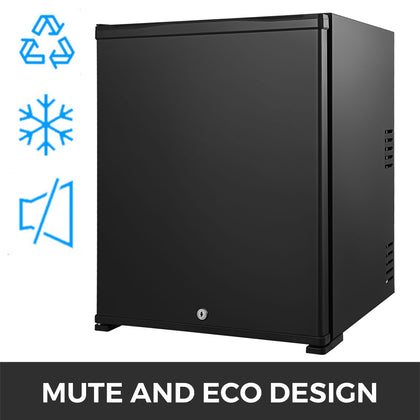 1 Cu.ft Absorption Mini Fridge No Noise Low Energy Lockable Bar Office Hotel Bar