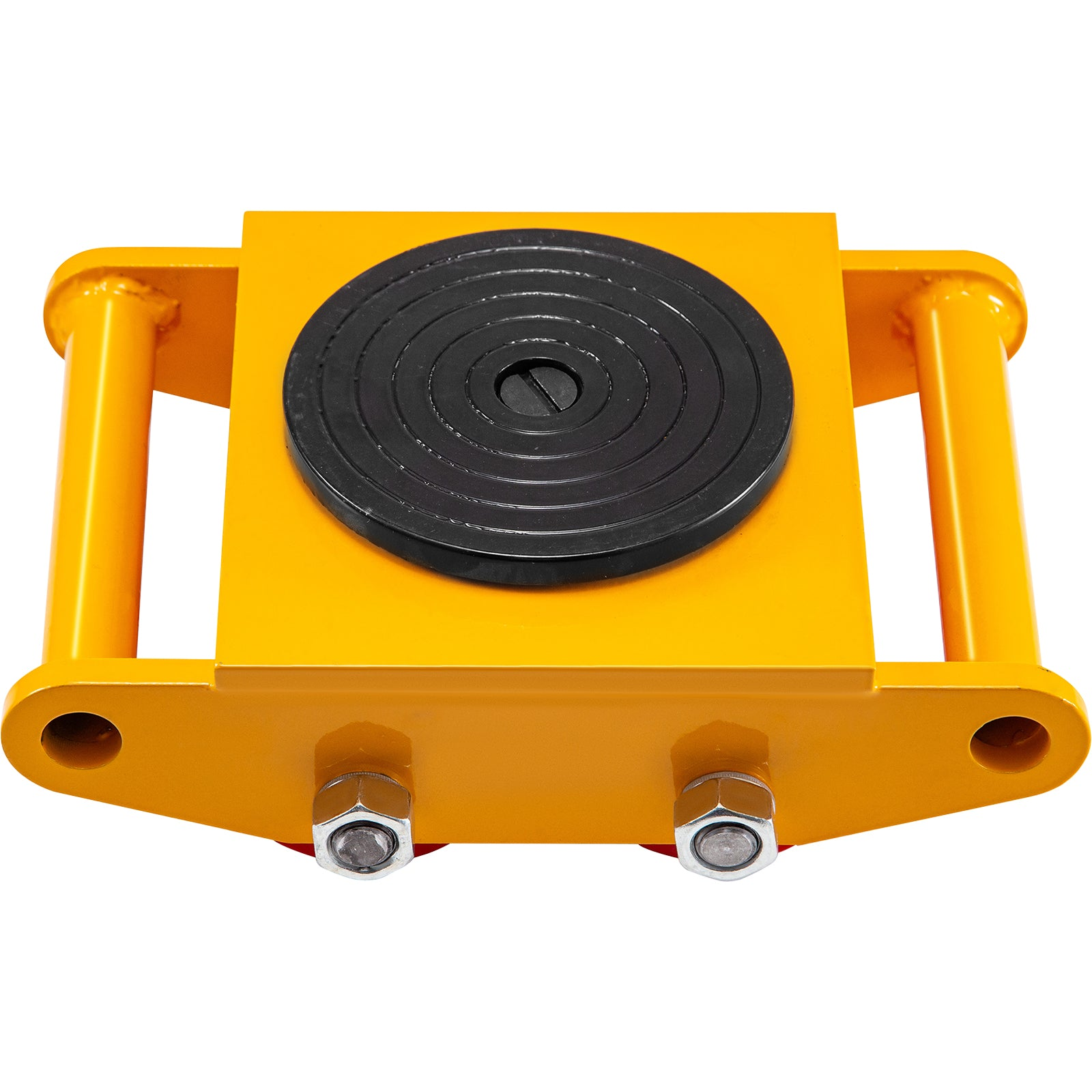 Vevor Machinery Movermachinery Skate Dolly6t, W/ 360° Rotation, 4pcs In Yellow