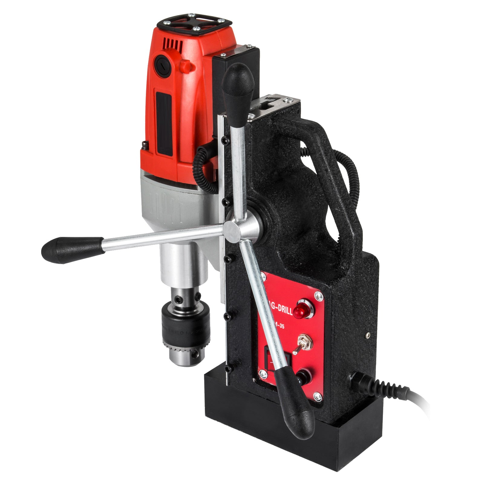 Brm-35 Magnetic Drill Press 12-35mm Boring Tapping 2250 Lbs Magnet Force 980w