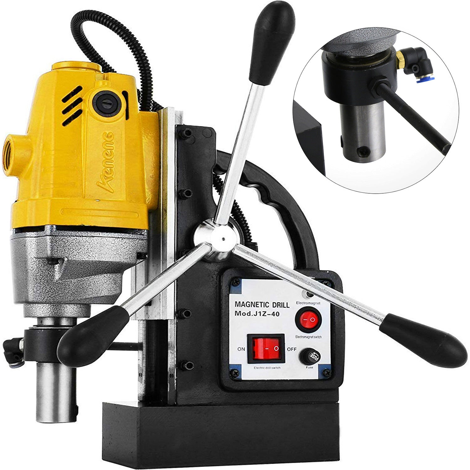 Md40 40mm Magnetic Drill Press 1100w Boring 2700 Lbs Magnet Force Tapping 1-1/2""