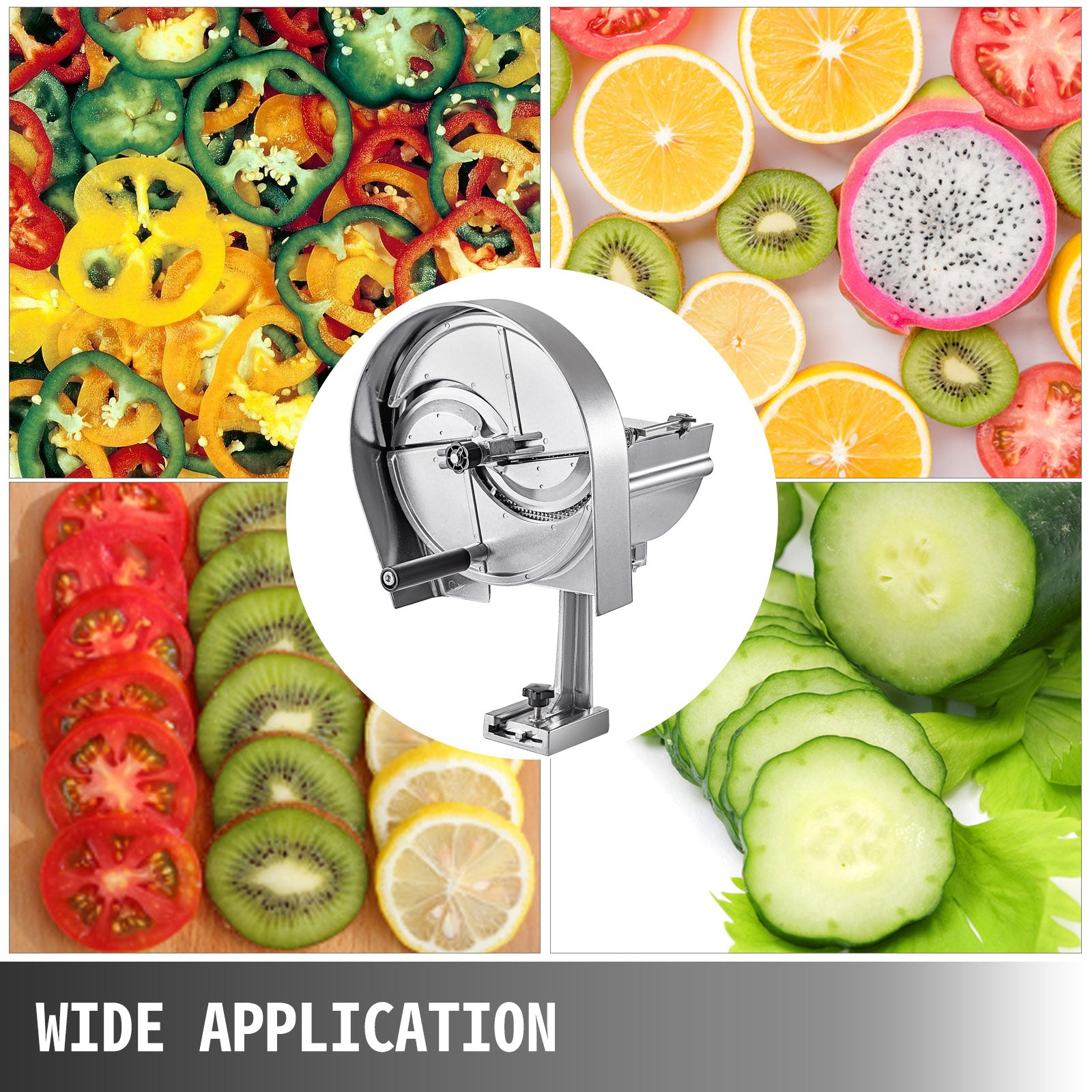 Fruit Vegetable Slicer Cutter 0-12 Mm Adjustable Slicer Machine Potato Apple