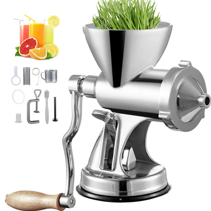 Manual Wheatgrass Juicer Wheat Grass Grinder W/ Suction Cup Wheatgrass Juicer