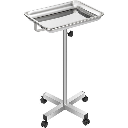 Vevor Mayo Stand Mayo Tray With Adjustable Height 32-51 In For Laboratory Salon