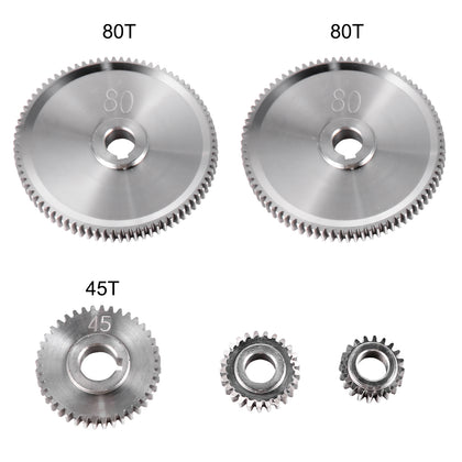 Vevor 5pcs Metal Lathe Gears, Change Gear For Mini Lathes And Milling Machines