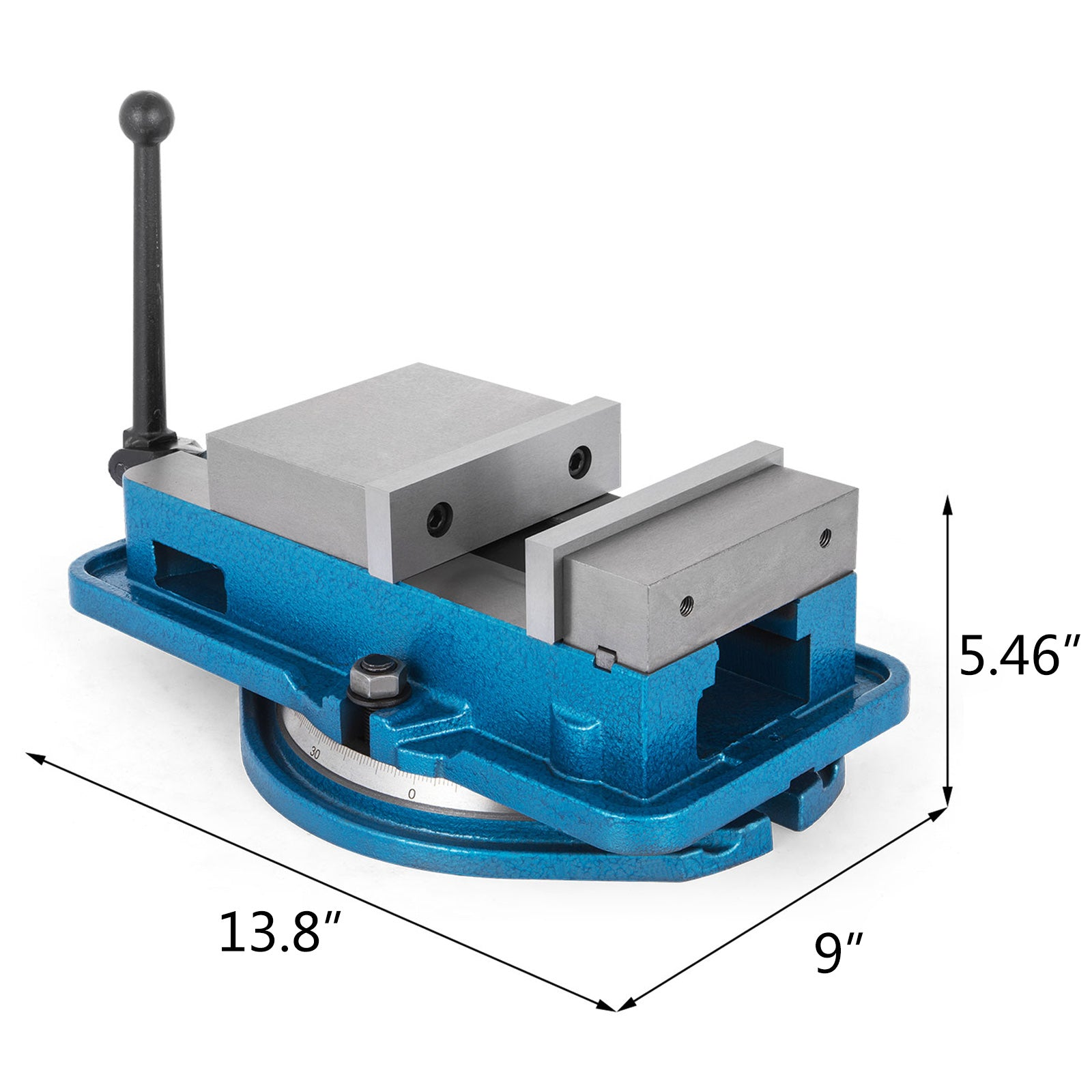 "5"" Milling Machine Lockdown Vise Swivel Base Swivel Base Hardened Metal Cnc"