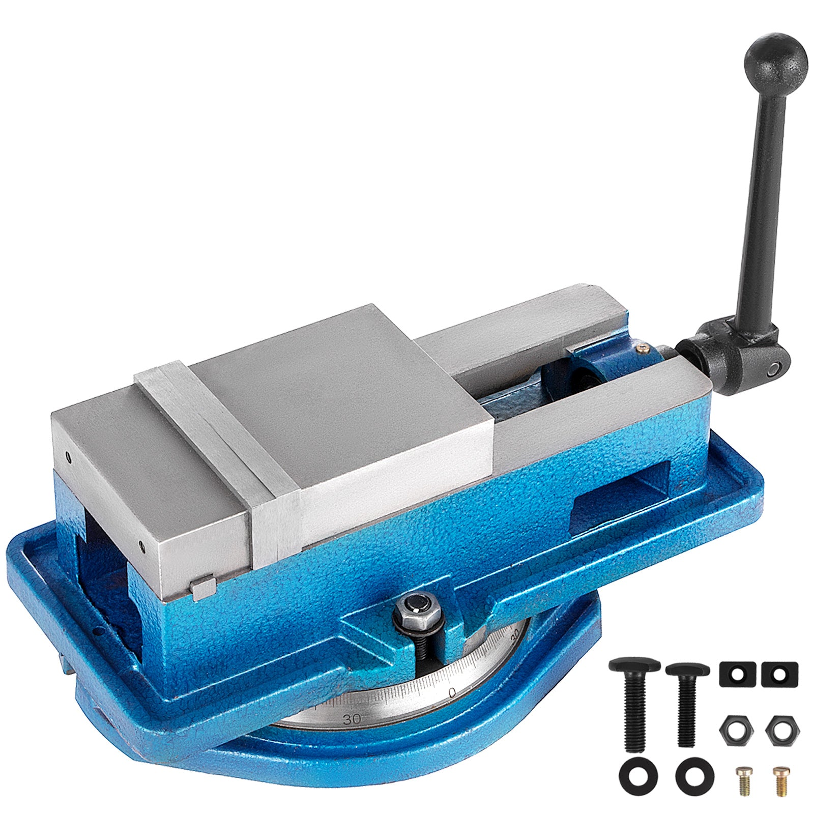 "4"" Milling Machine Lockdown Vise Swiveling Base Precise Scale Clamping Vise"
