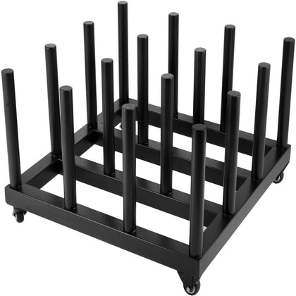 Digital Media Vinyl Cart Mobile Rack 16-roll Capacity 2
