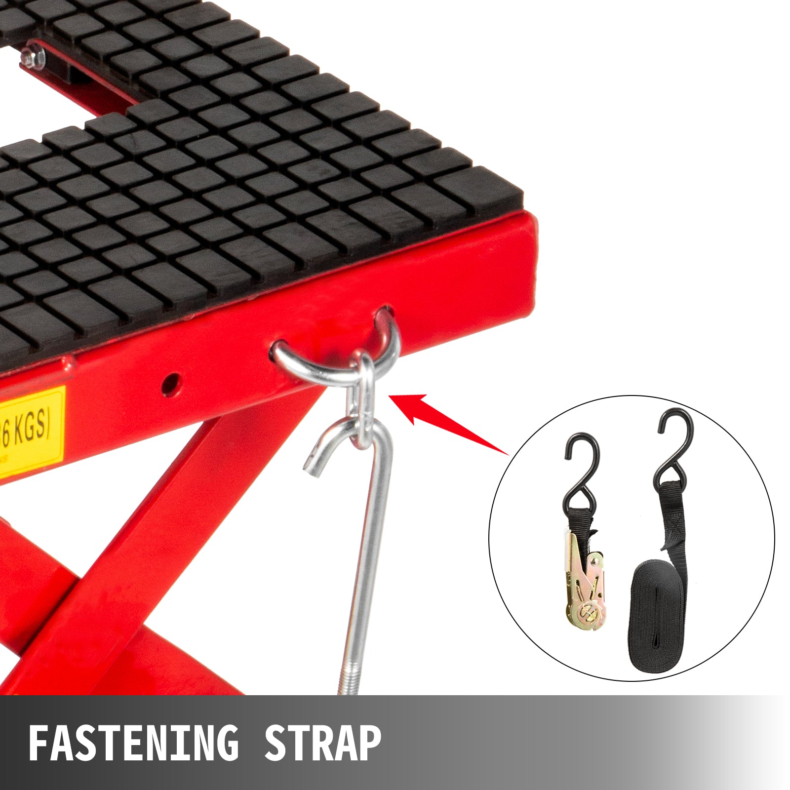 Motorcycle Jack, Scissor Jack 300lbs, Hydraulic Lift Table With Fastening Straps