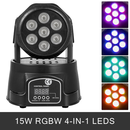 105w Rgbw Led Moving Head Stage Par Light Flat Can Auto Strobe Laser Projector
