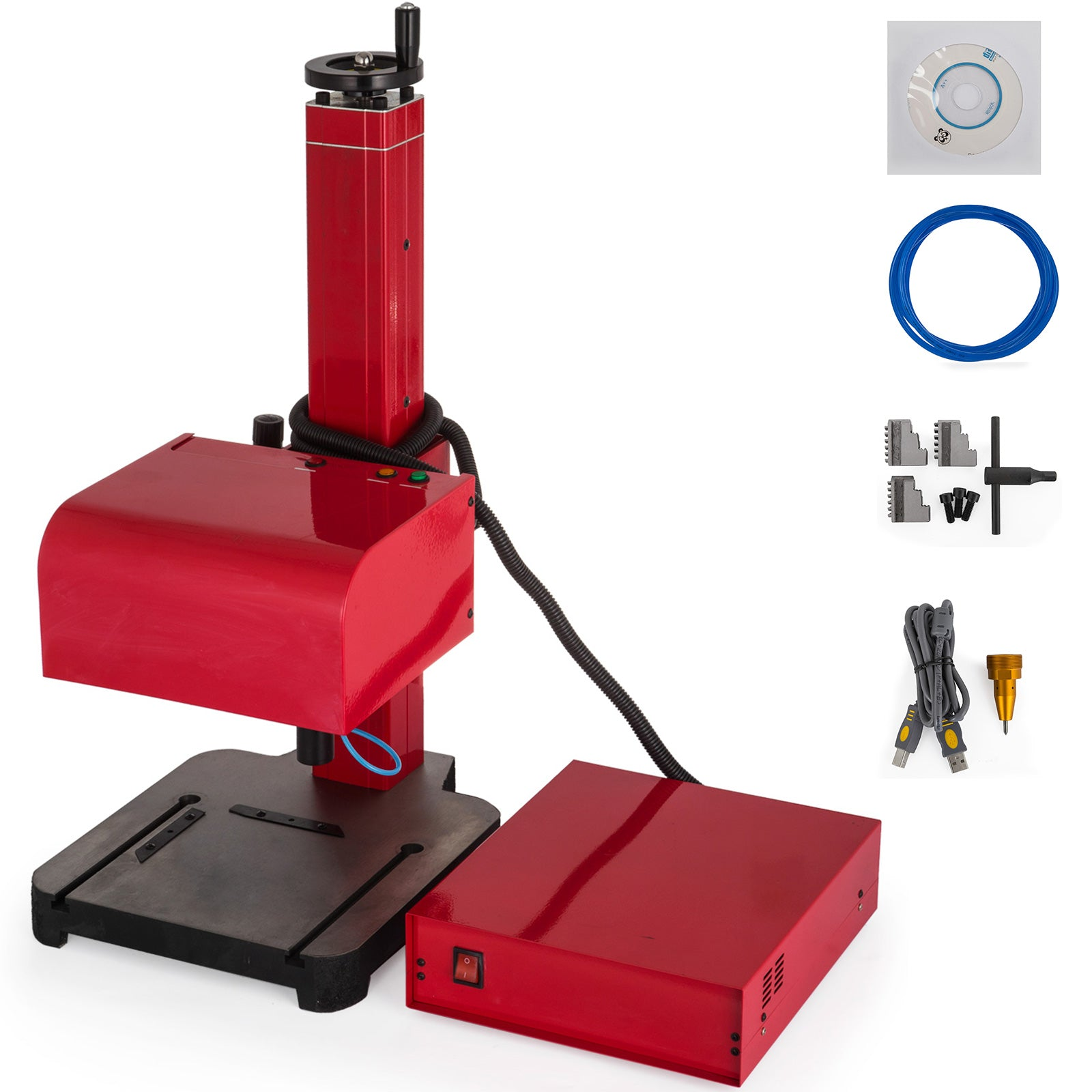 110v Pneumatic Marking Machine 300 X 200 Mm Sign Logo Metal Marking Tagging 400w