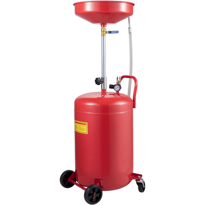 Vevor Waste Oil Drain Tank Portable Oil Drain 20 Gallon Air Operate W/ Air Valve