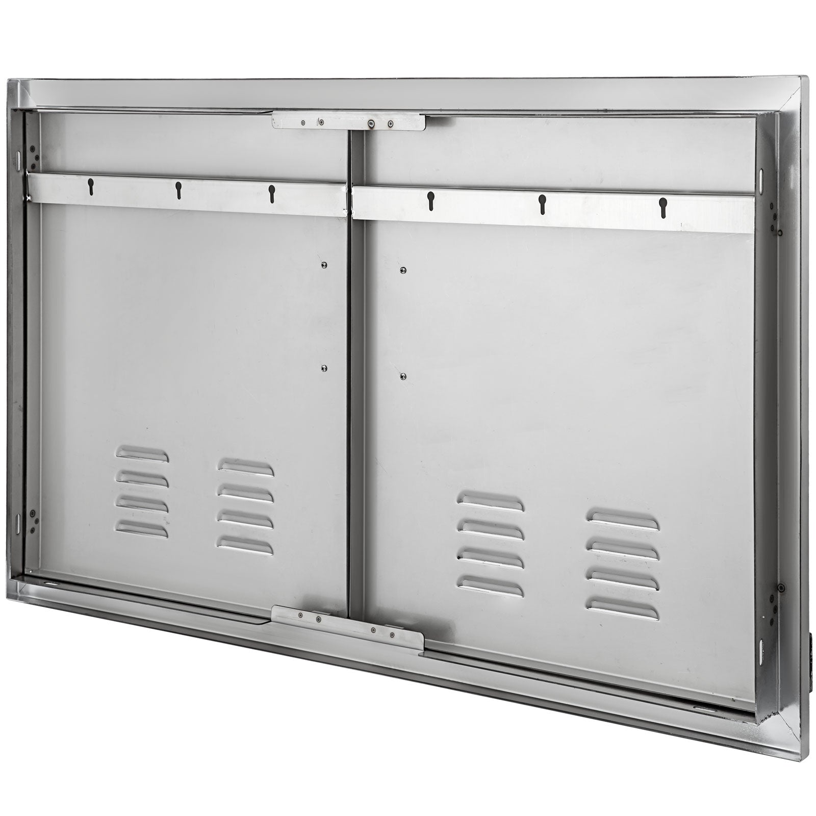 "36""x21"" Vented Double Access Door Double Island Outdoor Kitchen Ventilation"