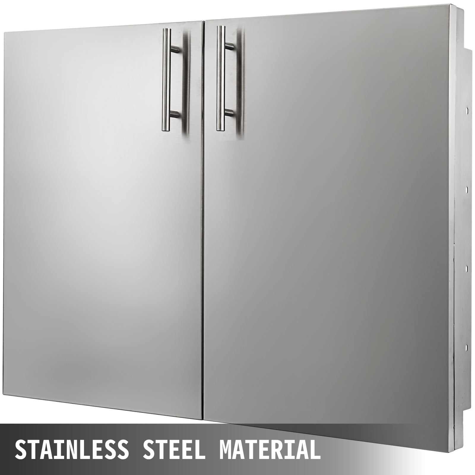"30"" Stainless Steel Double Access Bbq Door Durable Bbq Island Superior Storage"