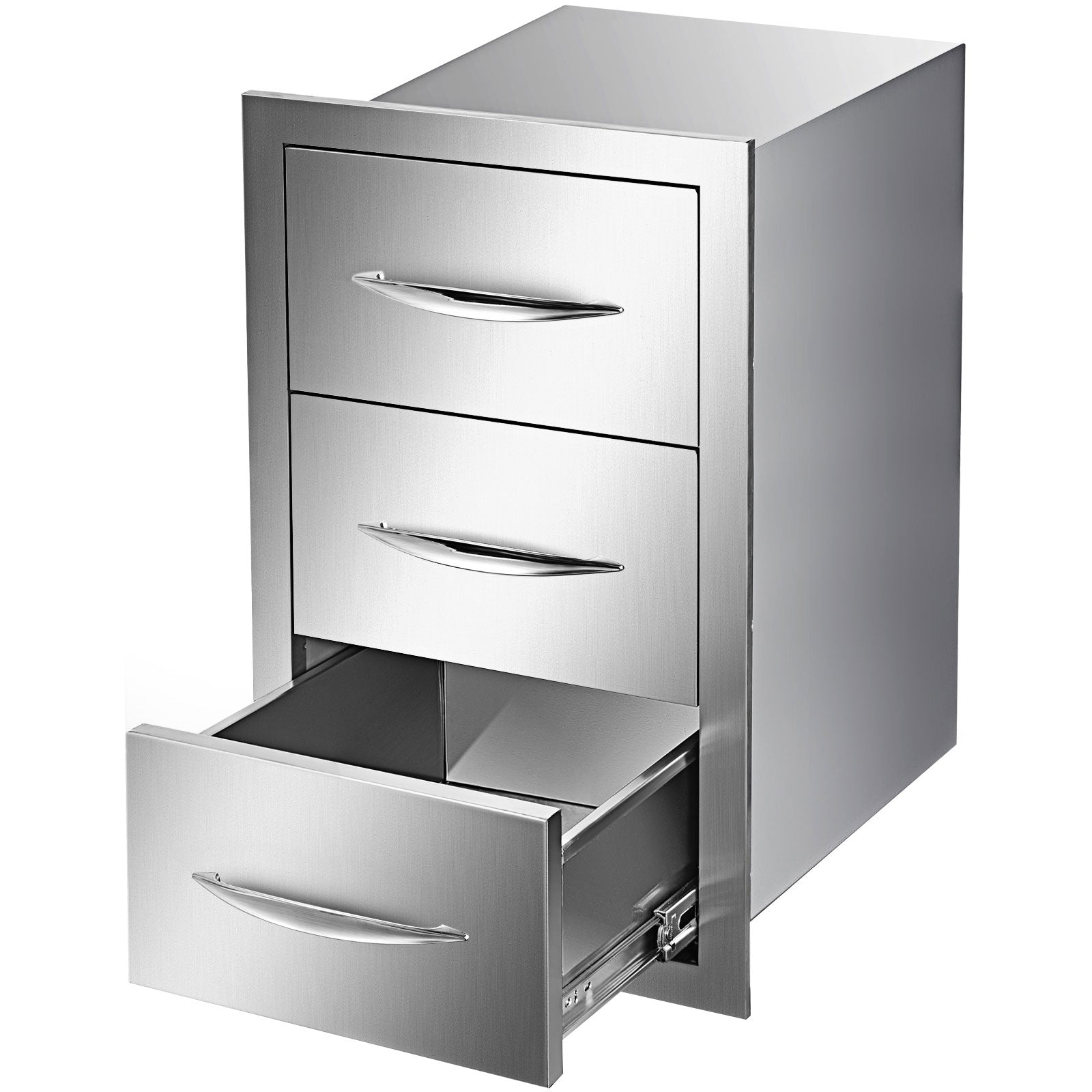 "Triple Drawer Outdoor Kitchen Bbq Island Stainless Steel 17.7""w X 20.5""h"