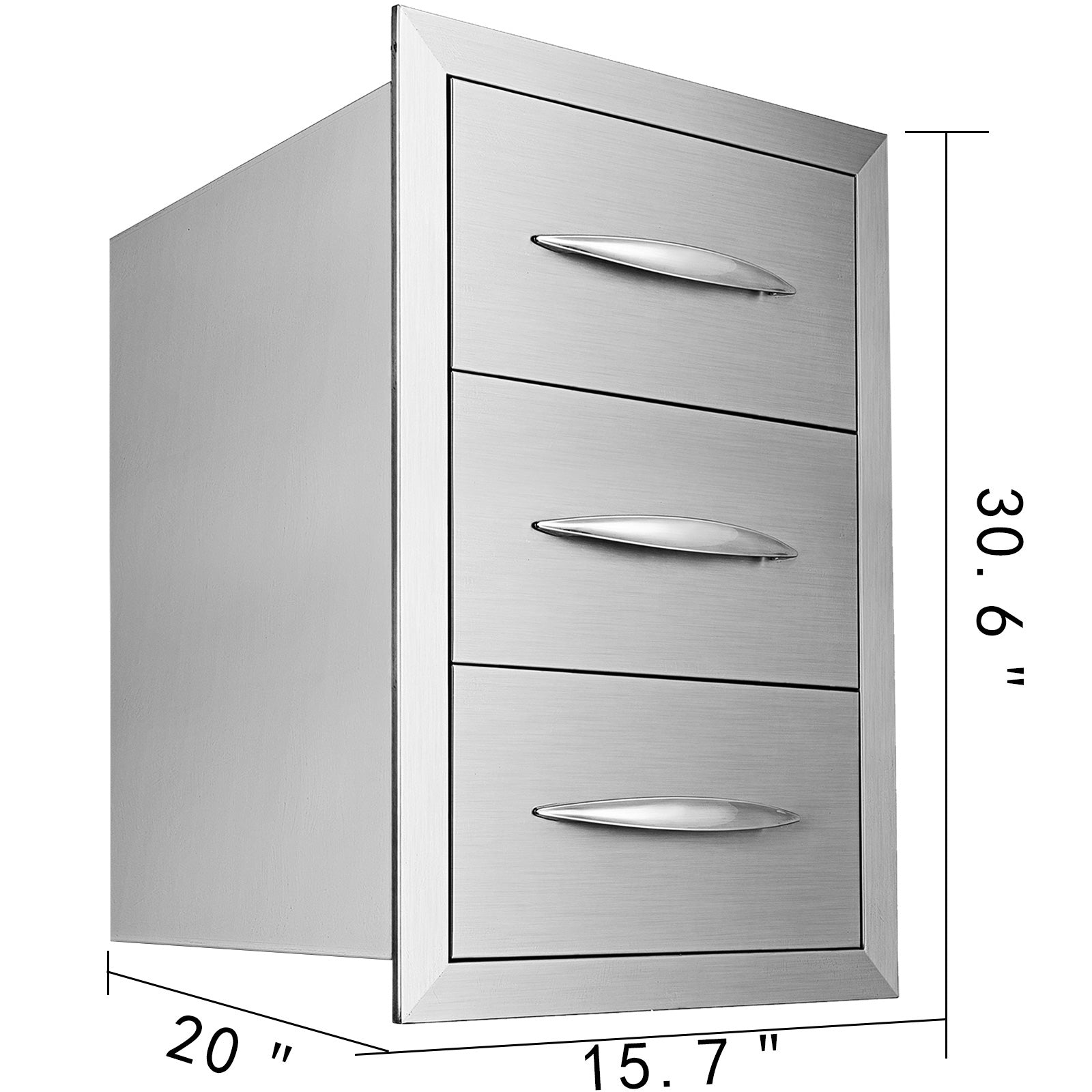 "15.7""x28.5"" Bbq Outdoor Kitchen Drawers Frame Storage Cabinet Access Drawers"