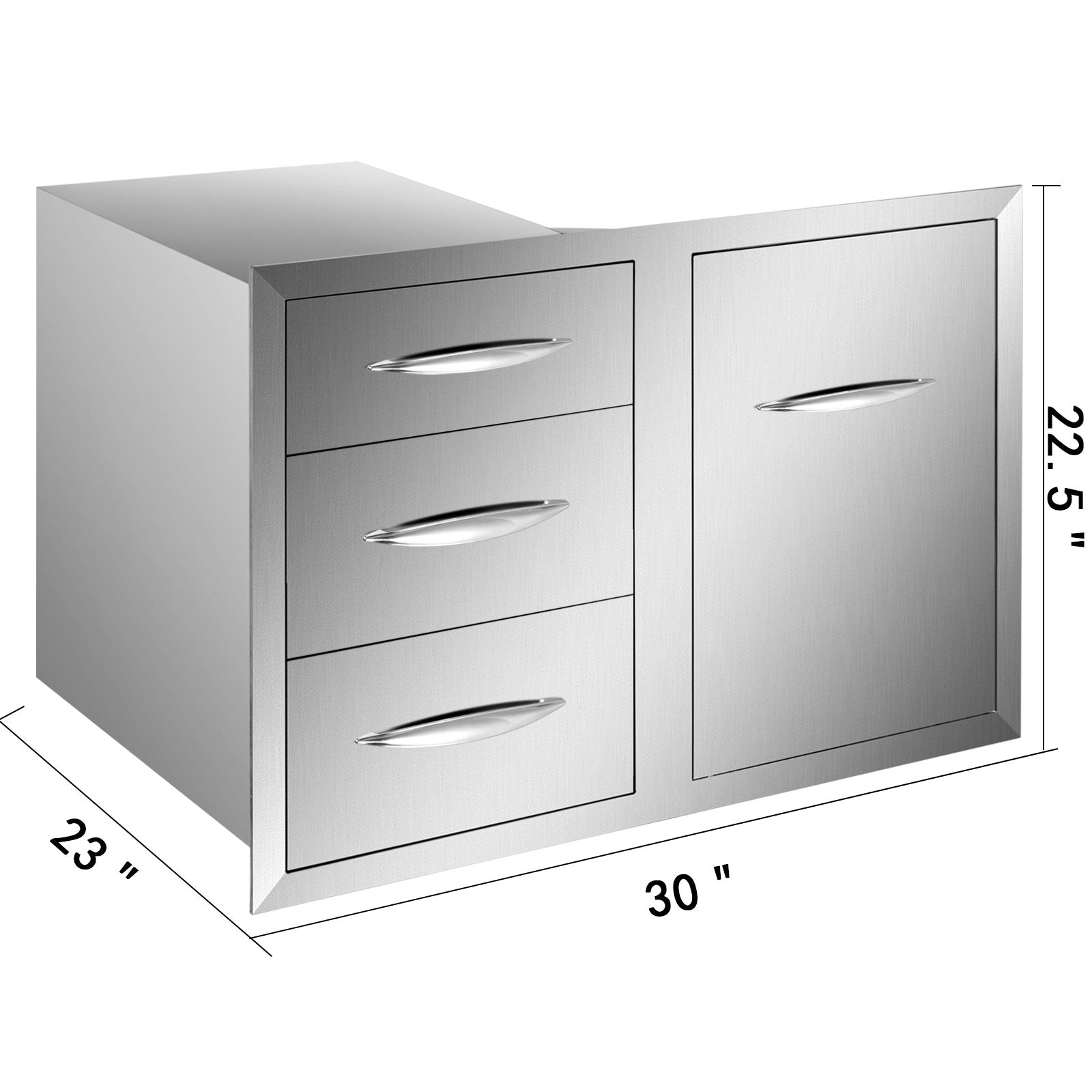 "21.6""w X 29.5""h Outdoor Kitchen Bbq Island Door Drawer Combo Access Drawers"