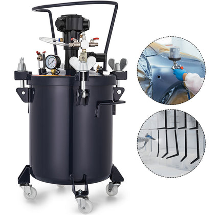 8 Gallon 30l Spray Paint Pressure Pot Tank Wood Coating Adhesives Roll Caster