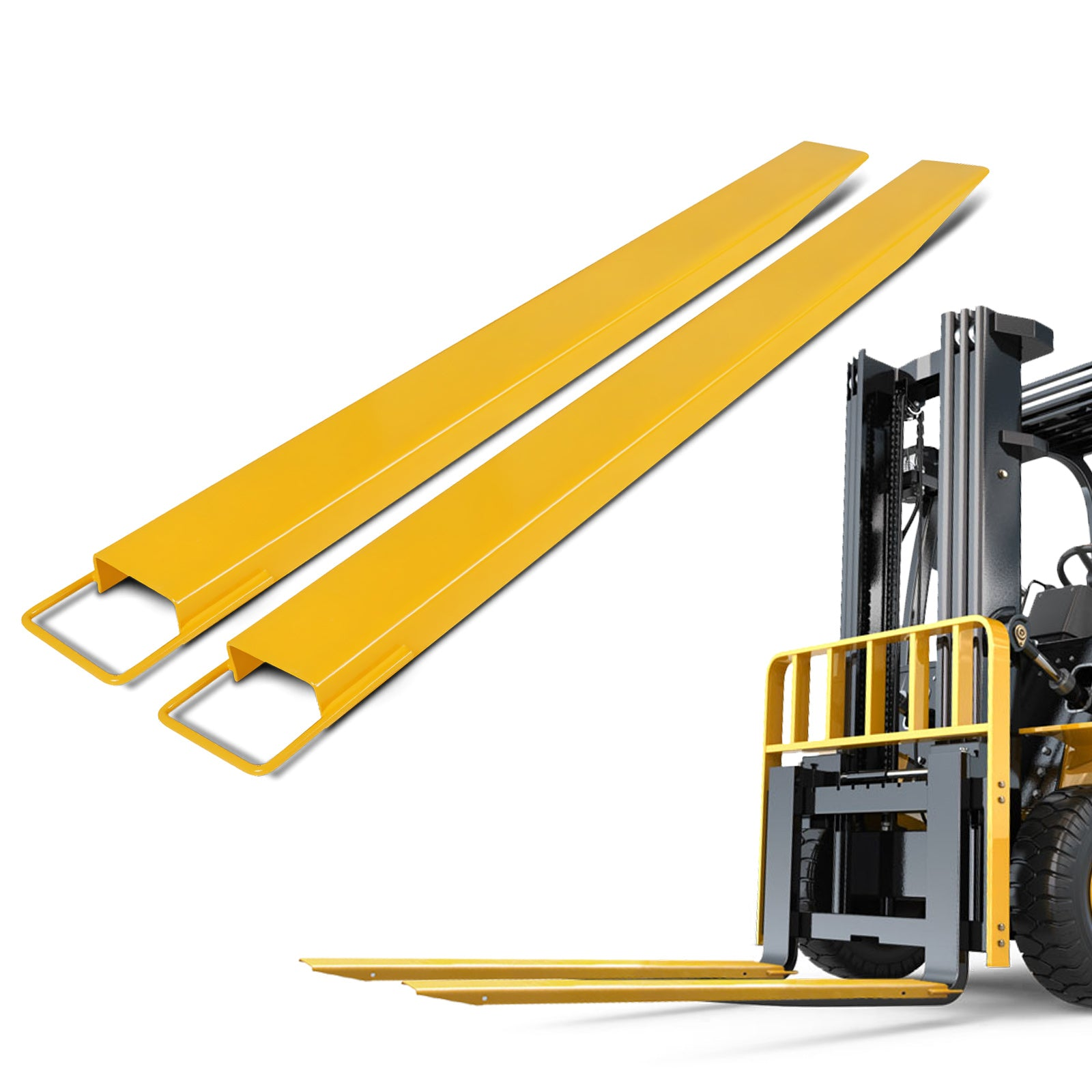 Pallet Fork Extension Forklift Extensions 72x6.5inch For Forklift Truck Loaders