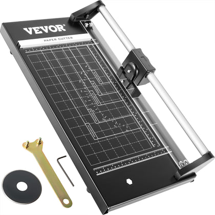 Vevor Precision Paper Trimmer Rotary Paper Trimmer 14 Inch Manual Paper Cutter