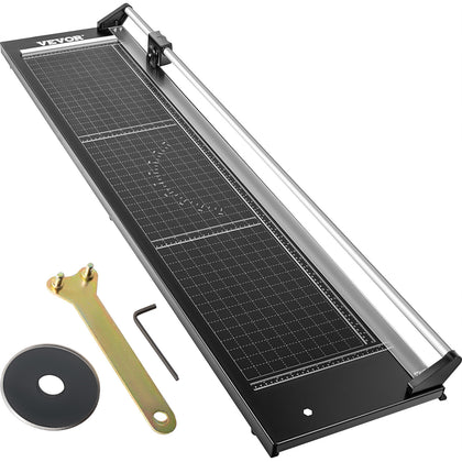 Vevor Precision Paper Trimmer Rotary Paper Trimmer 48 Inch Manual Paper Cutter