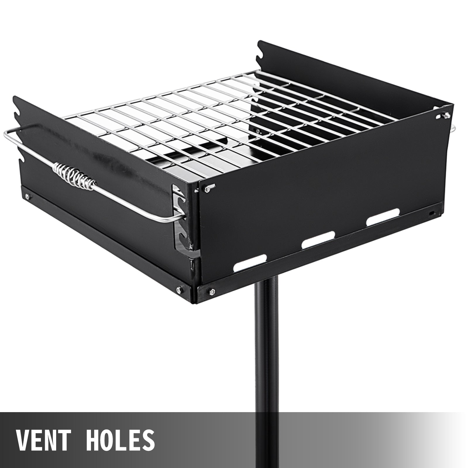 Outdoor Park-style Charcoal Grill For Camping And Cookouts, Bbq Accessories