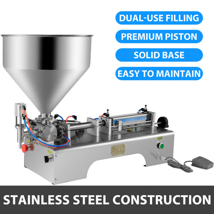 10-300ml Paste Filling Machine Stainless Steel Filler No Dripping 30l Hopper