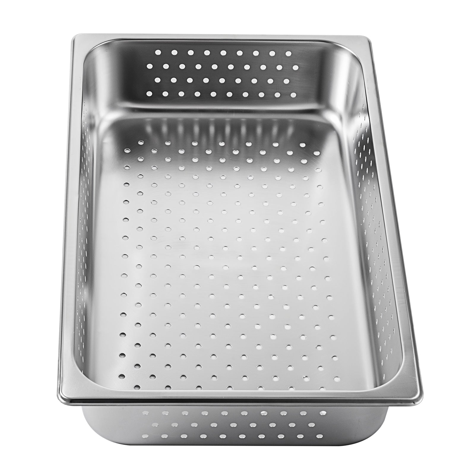 "Perforated Steam Table Pan Hotel Full Size 4""deep Stainless Steel Pans 6 Pack"