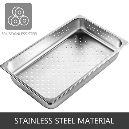 Perforated Steam Table Pan Hotel Full Size 2.5