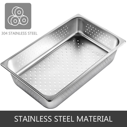 4x Perforated Steam Table Pans Full Size 4