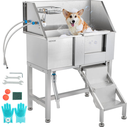 Vevor Pet Grooming Tub Dog Wash Station 34