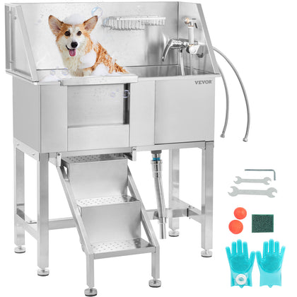 Vevor Pet Grooming Bath Tub Dog Wash Station 34