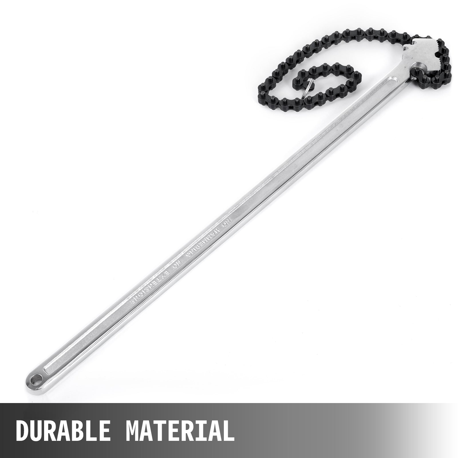 24 Inch Handle Heavy Duty Chain Wrench 560mm Chain Pipe Wrench Sliver Tone
