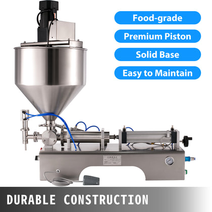 100-1000ml Semiautomatic Liquid Paste Filling Machine Mixing Stirring Pneumatic